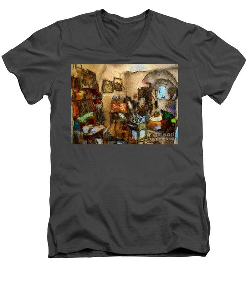 Modern Art Studio Men's V-Neck T-Shirt