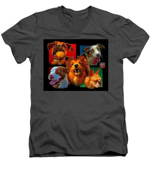 Modern Dog Art - 0001 Men's V-Neck T-Shirt