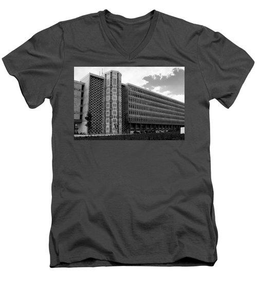 Modern Lisbon - The Palace Of Justice Men's V-Neck T-Shirt