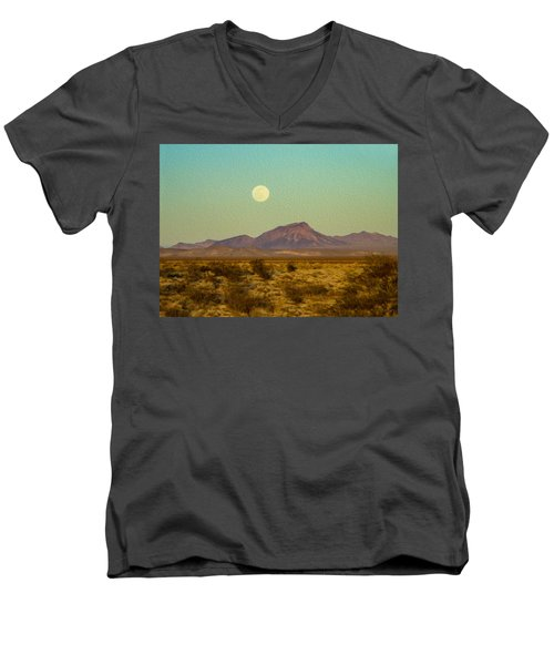 Mohave Desert Moon Men's V-Neck T-Shirt