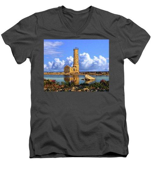 Mohawk Island Lighthouse Men's V-Neck T-Shirt