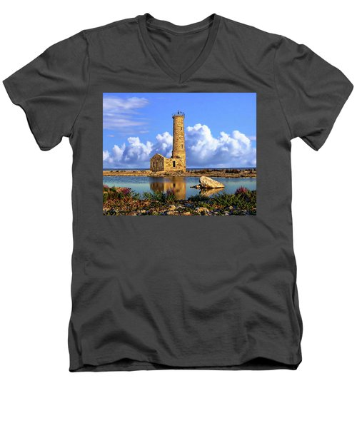 Mohawk Island Lighthouse Men's V-Neck T-Shirt