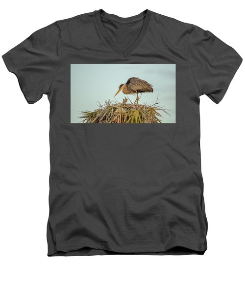 Mom And Chick Men's V-Neck T-Shirt