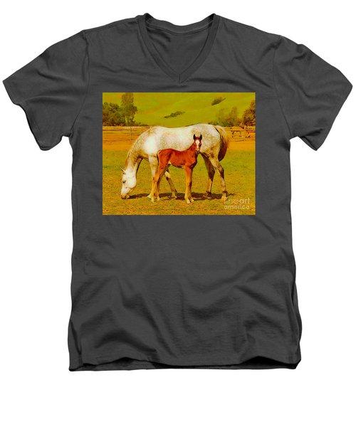 Mom And Me Men's V-Neck T-Shirt