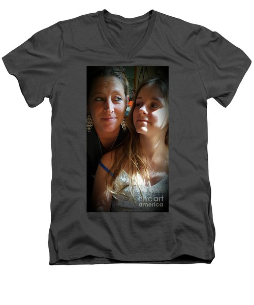 Mom Moments Men's V-Neck T-Shirt
