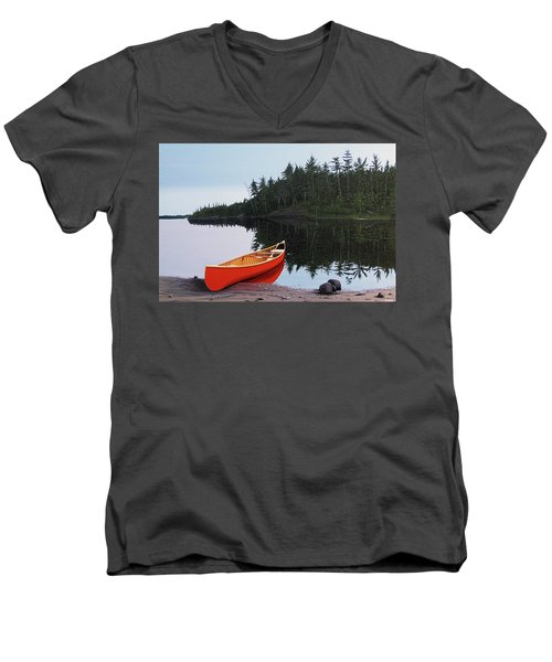 Moments Of Peace Men's V-Neck T-Shirt by Kenneth M  Kirsch