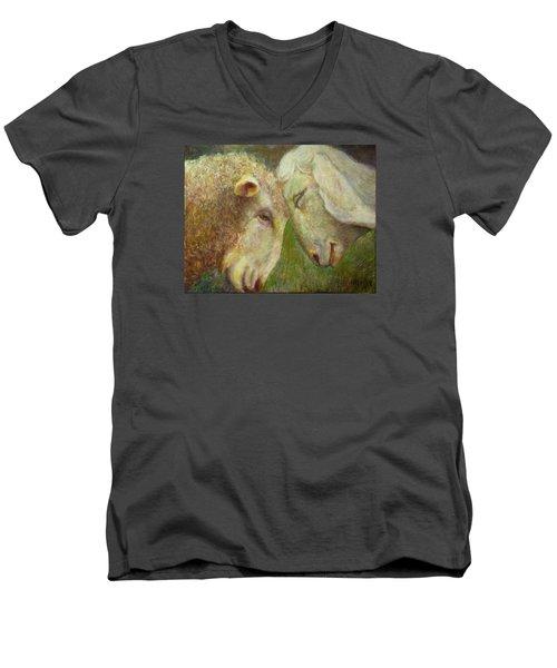 Moments Of Tenderness Men's V-Neck T-Shirt