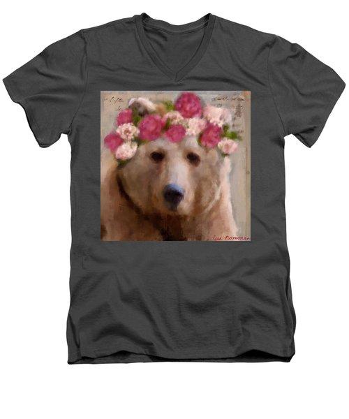 Momma Bear Men's V-Neck T-Shirt