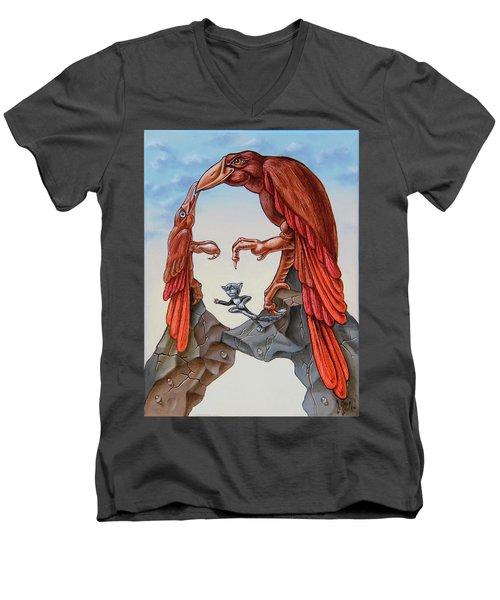 Mona Lisa. Air. Men's V-Neck T-Shirt