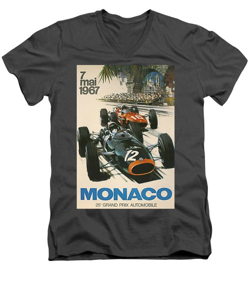 Monaco Grand Prix 1967 Men's V-Neck T-Shirt