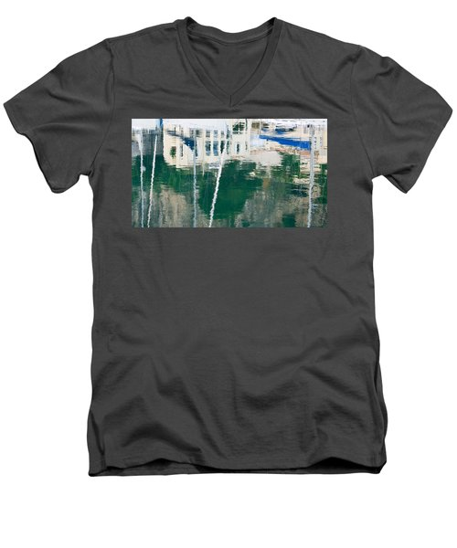 Monaco Reflection Men's V-Neck T-Shirt by Keith Armstrong