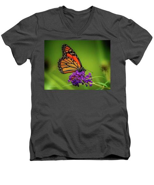 Monarch #1 Men's V-Neck T-Shirt