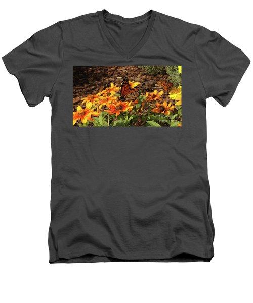 Monarch Butterflies Men's V-Neck T-Shirt