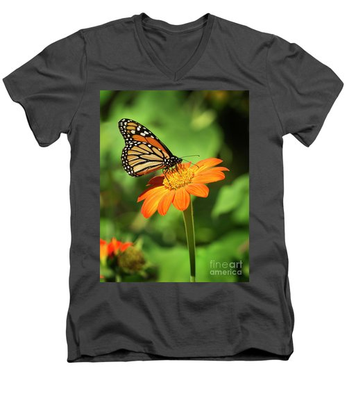 Monarch Butterfly II Vertical Men's V-Neck T-Shirt