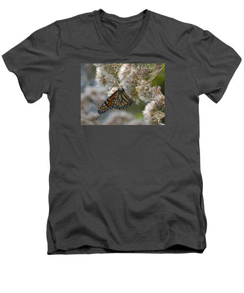 Monarch Pink Men's V-Neck T-Shirt