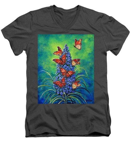 Monarch Waystation Men's V-Neck T-Shirt by Gail Butler