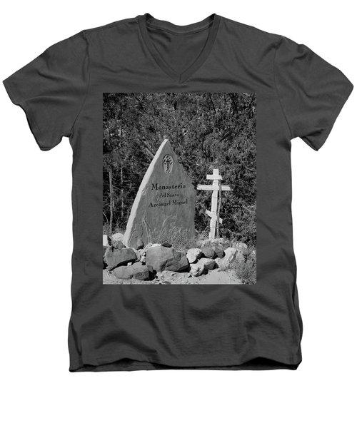 Monasterio Del Santo Arcangel Miguel Men's V-Neck T-Shirt