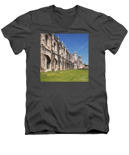 Monastery Of The Hieronymites Lisbon 3 Men's V-Neck T-Shirt