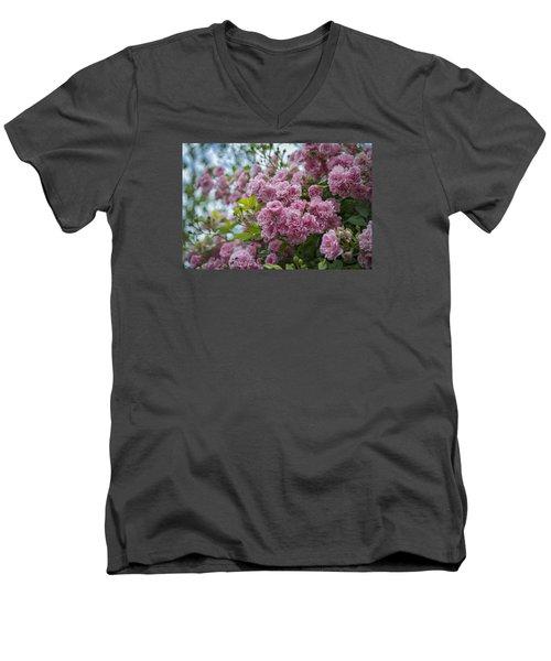 Monet's Roses Men's V-Neck T-Shirt
