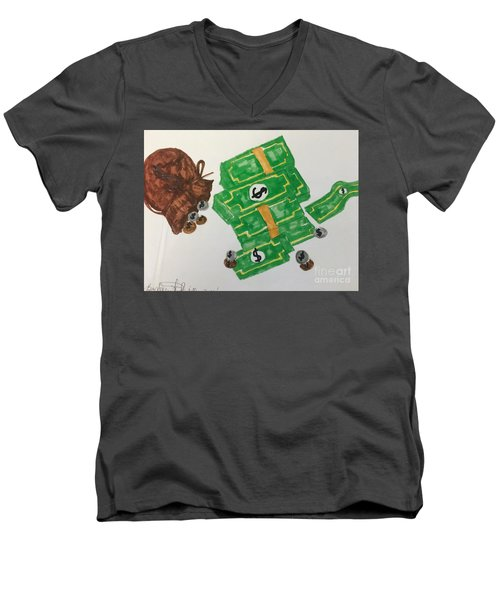 Money  Men's V-Neck T-Shirt
