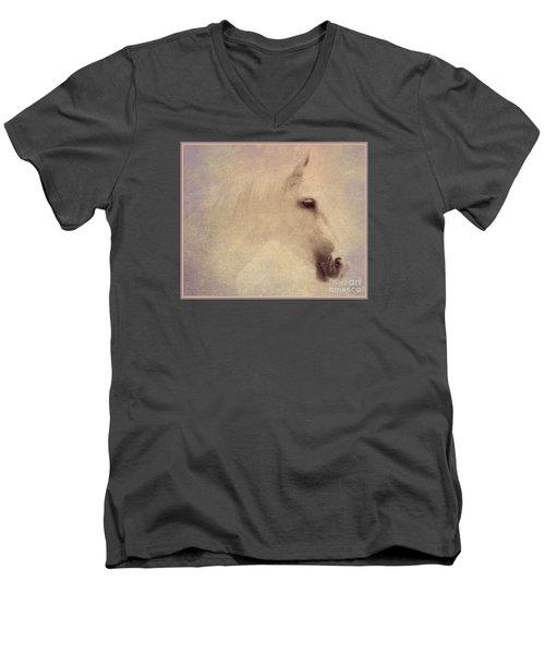Monique In Pastels Men's V-Neck T-Shirt