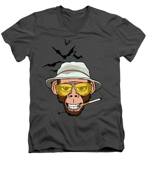 Monkey Business In Las Vegas Men's V-Neck T-Shirt by Nicklas Gustafsson