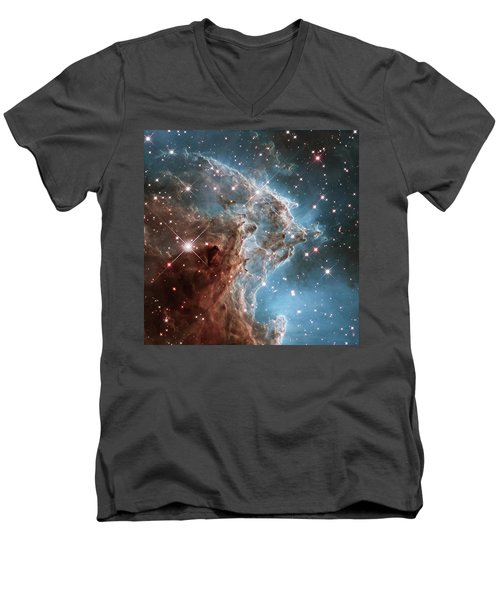 Men's V-Neck T-Shirt featuring the photograph Monkey Head Nebula by Marco Oliveira
