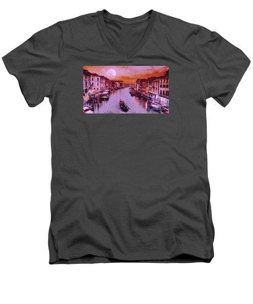 Monkey Painted Italy Again Men's V-Neck T-Shirt