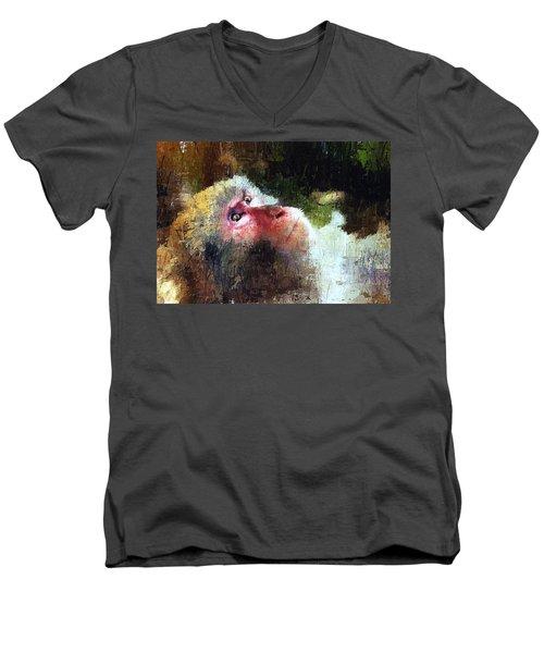 Monkey Wisdom Men's V-Neck T-Shirt