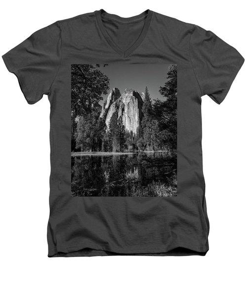 Monolith Men's V-Neck T-Shirt by Ryan Weddle