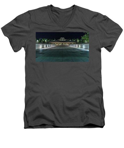 Monona Terrace Men's V-Neck T-Shirt by Randy Scherkenbach