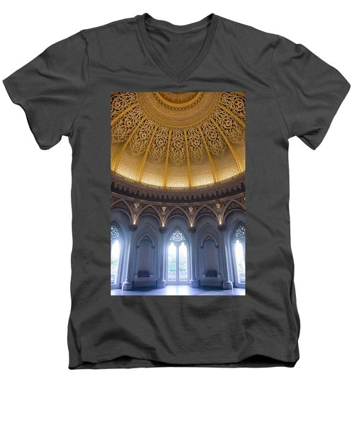 Men's V-Neck T-Shirt featuring the photograph Monserrate Palace Room by Carlos Caetano