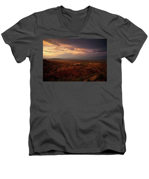Monsoon Storm Afterglow Men's V-Neck T-Shirt
