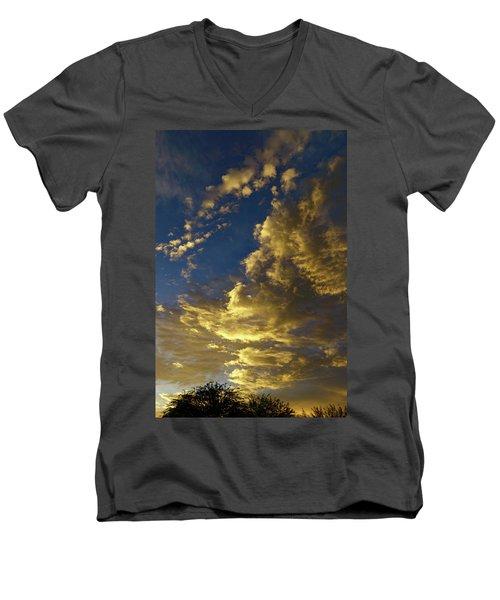 Monsoon Warmth Men's V-Neck T-Shirt