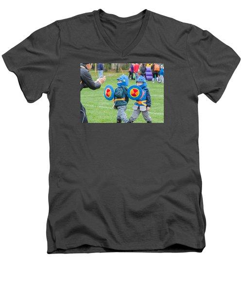 Monster Dash 11 Men's V-Neck T-Shirt by Brian MacLean