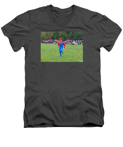 Monster Dash 12 Men's V-Neck T-Shirt by Brian MacLean