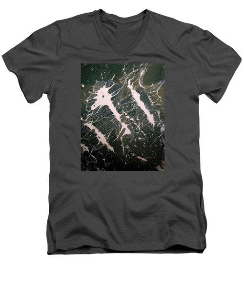 Monster Energy  Men's V-Neck T-Shirt by Gyula Julian Lovas