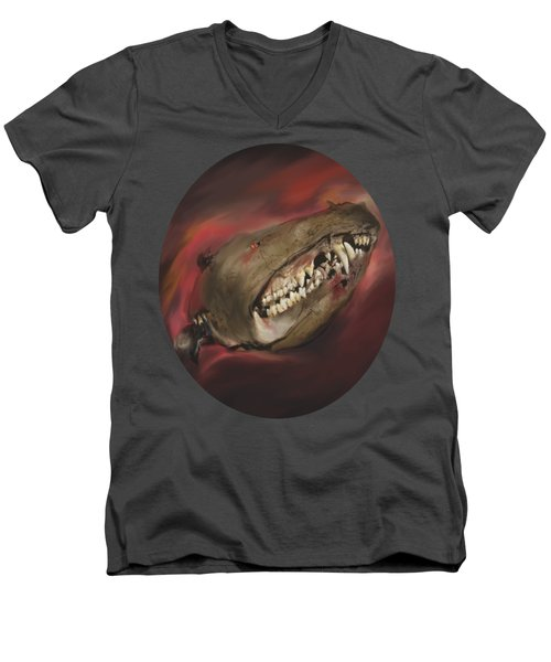 Monster Skull Men's V-Neck T-Shirt