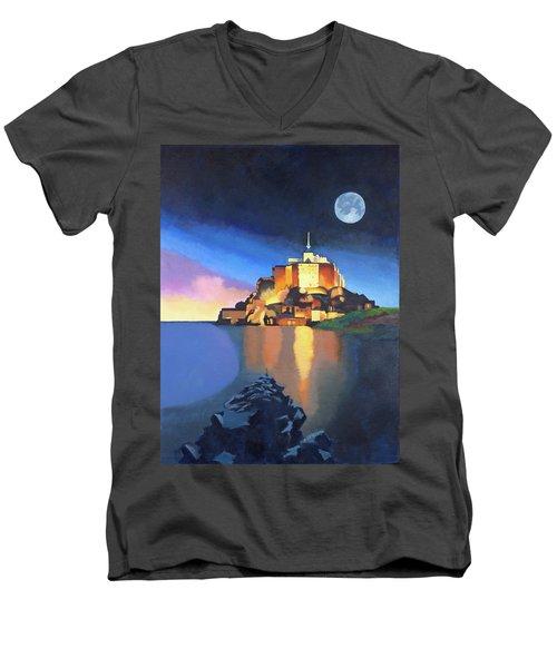 Mont Saint-michel Men's V-Neck T-Shirt