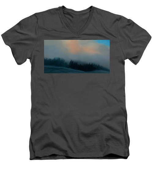 Mont Tremblant Vista Men's V-Neck T-Shirt by Jim Vance