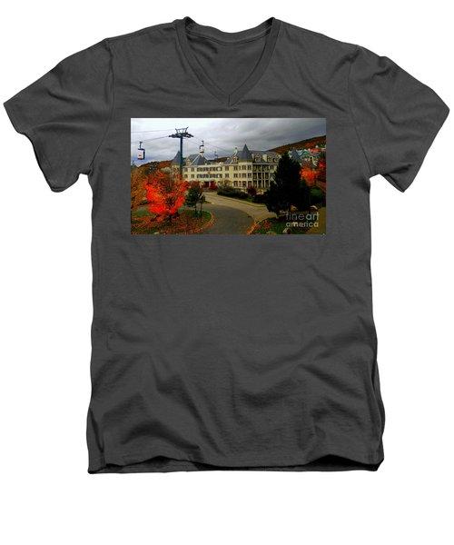 Mont Tremblant,quebec,canada Men's V-Neck T-Shirt