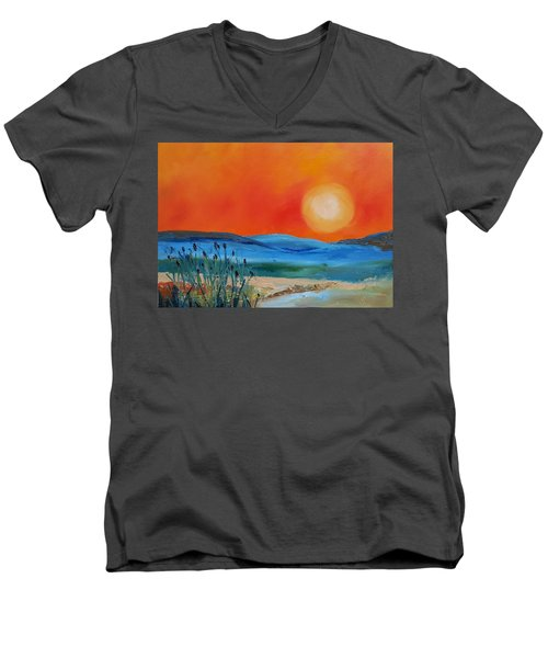 Montana Firery Sunset             49 Men's V-Neck T-Shirt