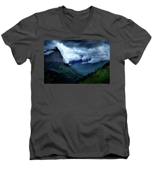 Montana Mountain Vista Men's V-Neck T-Shirt