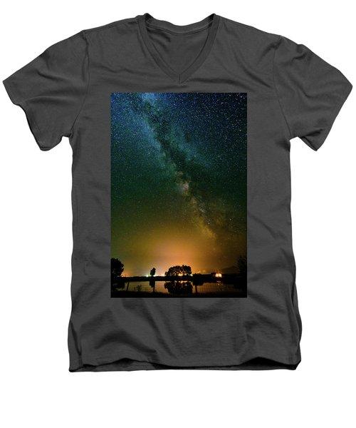 Montana Night Men's V-Neck T-Shirt