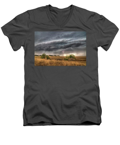 Montana Storm Men's V-Neck T-Shirt