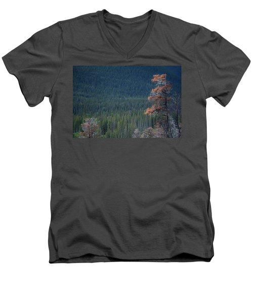 Montana Tree Line Men's V-Neck T-Shirt