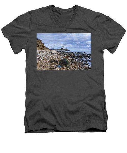 Montauk Lighthouse Men's V-Neck T-Shirt