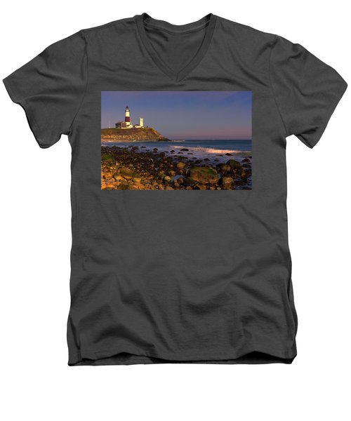 Montauk Lighthouse Men's V-Neck T-Shirt