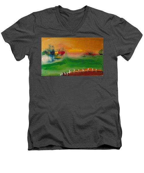 Montauk Marina Men's V-Neck T-Shirt