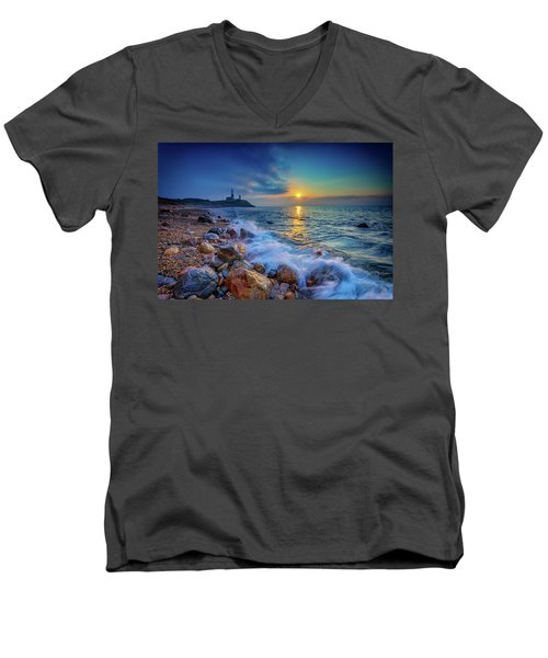 Montauk Sunrise Men's V-Neck T-Shirt